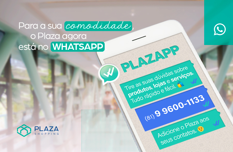 Fale com o Plaza no WhatsApp