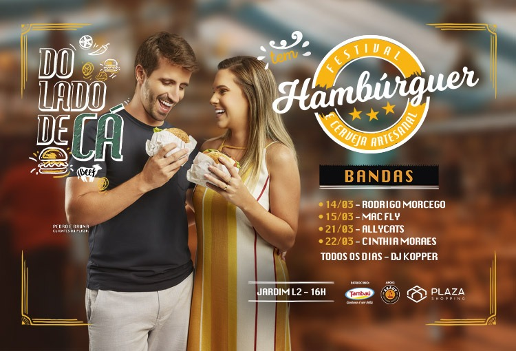 5ª edição do Festival de Hambúrguer agita fins de semana de março no Plaza