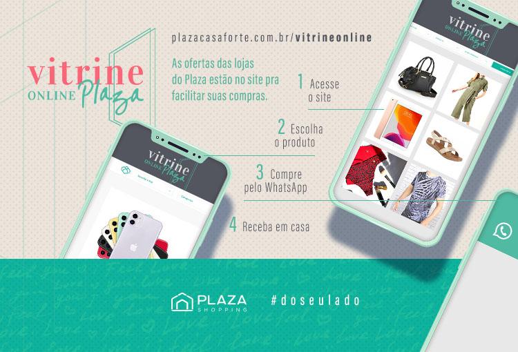 Vitrine Online Plaza: confira ofertas das nossas lojas e compre pelo WhatsApp
