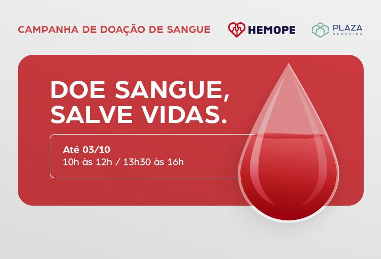 Plaza recebe ponto de doação do Hemope