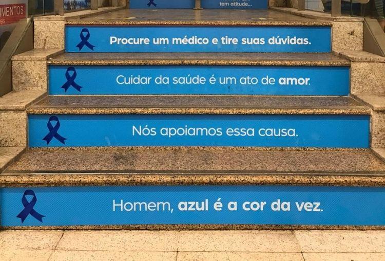 Novembro azul conta com ação de conscientização no Plaza Shopping