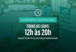 Confira o horário especial de funcionamento a partir de 18 de março.