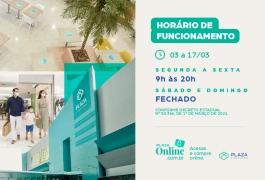 Horário de funcionamento do Plaza Shopping até 17/03