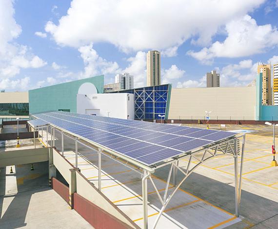 Primeiro shopping a adotar a geração de energia limpa